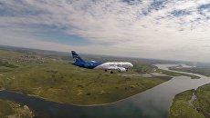 Первый полет нового пассажирского лайнера МС-21
