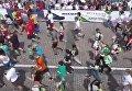 Пробег под каштанами в Киеве с высоты птичьего полета. Видео