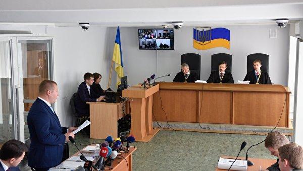 Заседание Оболонского суда Киева по делу бывшего президента Украины В. Януковича. Архивное фото