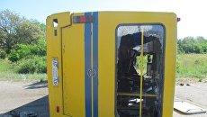 На трассе под Мелитополем перевернулся автобус с пассажирами