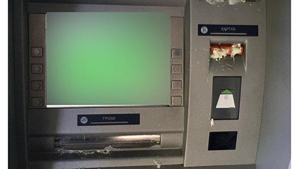 ВХарькове залили банкоматы «дочки» «Сбербанка» монтажной пеной