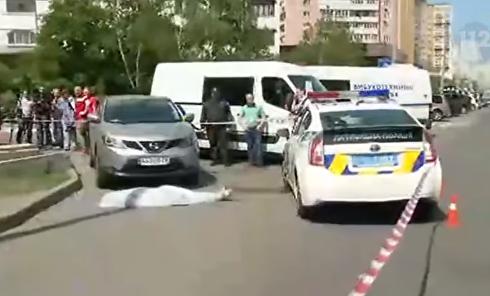 Появились кадры с места расстрела экс-главы Укрспирта. Видео