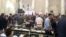 Здание Львовского облсовета захватили русскоязычные националисты - СМИ