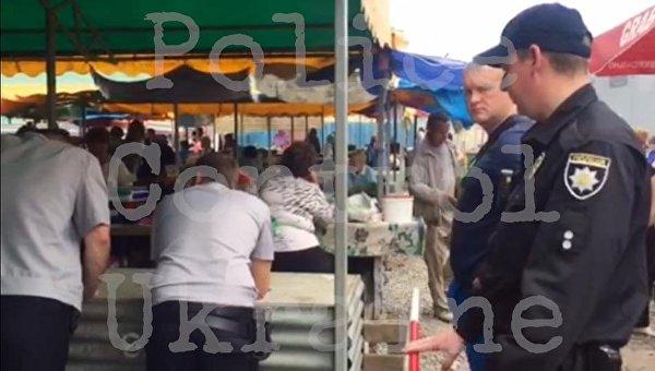Стрельба на рынке в Харькове