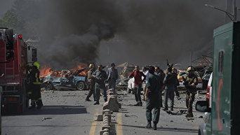Появилось видео последствий взрыва в Кабуле