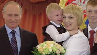Мальчик расплакался на встрече с Путиным в Кремле. Видео