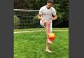 Тренировки Златана Ибрагимовича после травмы колена