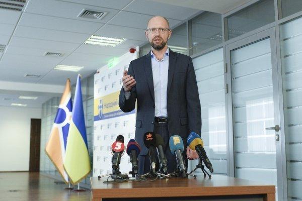 Пресс-конференция Арсения Яценюка в Киеве.