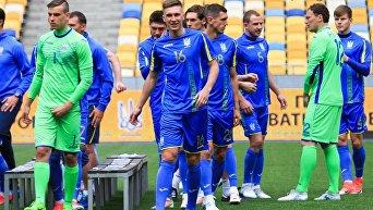 Открытая тренировка Национальной сборной Украины по футболу