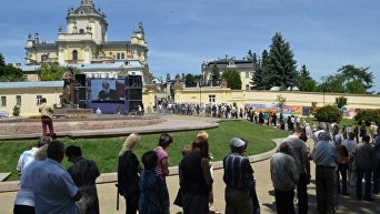 Прощание с Любомиром Гузаром во Львове