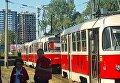 В Киеве трамвай насмерть сбил женщину