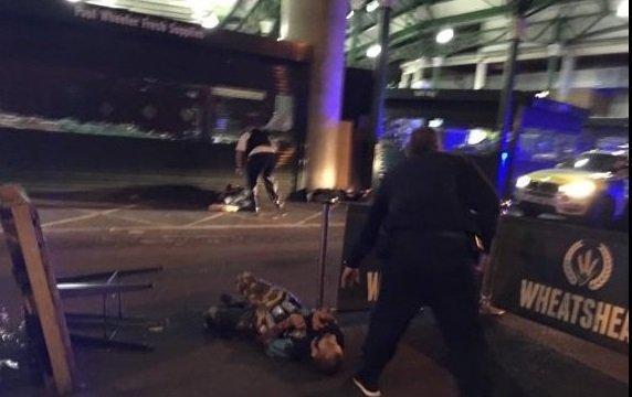 Предполагаемый террорист на месте ЧП в Лондоне