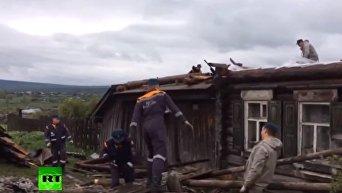 Ураган в Свердловской области РФ
