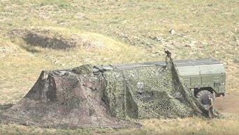 Боевые пуски российских тактических ракет Искандер-М в Таджикистане. Видео