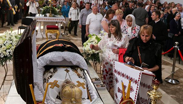 Прощание с Любомиром Гузаром в Киеве