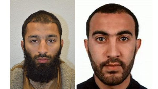 Исполнители теракта 3 июня в Лондоне: 27-летний Хурам Шазад Батт и 30-летний Рашид Редуан