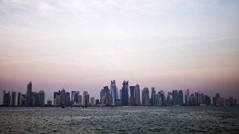 Район Вест-Бэй города Доха. Катар