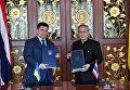 Глава МИД Украины Павел Климкин и глава МИД Таиланда Дон Прамудвин