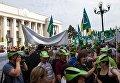 Митинг против внедрения рынка земли под Верховной Радой