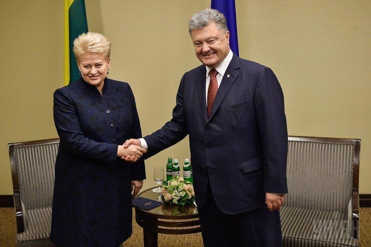 Встреча президентов Украины и Литвы в Харькове