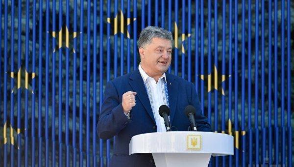 Петр Порошенко в ходе мероприятий по случаю запуска обратного отсчета до безвизового режима с ЕС