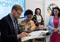 Заместитель генсека ООН Фумзиле Мламбо-Нгкука и посол Швеции в Украине Мартин Хагстрем