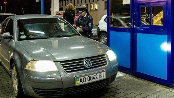 Пункт пропуска после вступления в силу безвиза Украины с ЕС