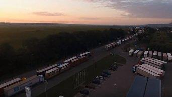 Пункты пропуска на границе с ЕС. Видео с квадрокоптера