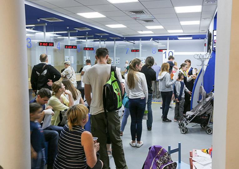 Очередь за биометрическими паспортами