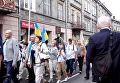 Украинское шествие в Польше под усиленной охраной полиции. Видео