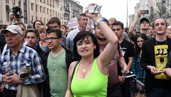 Милиция проинформировала о задержании 150 человек наакции в столице России