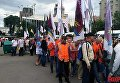В Киеве работники пикетируют офис Укрзализныци