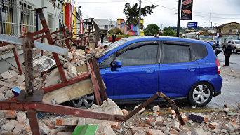 Последствия мощного землетрясения в Центральной Америке