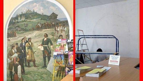 В Киеве декоммунизировали фреску Петра Первого