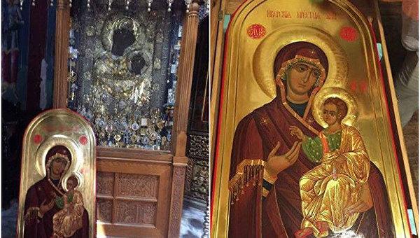 В Киев со Святой горы Афон прибыла икона Божией Матери Иверская