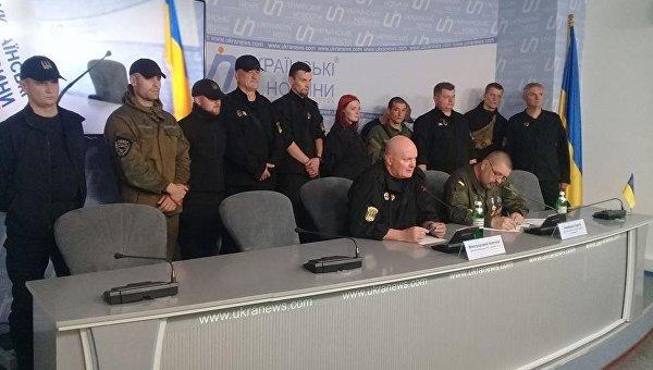 Организаторы торговой блокады Донбасса. Архивное фото