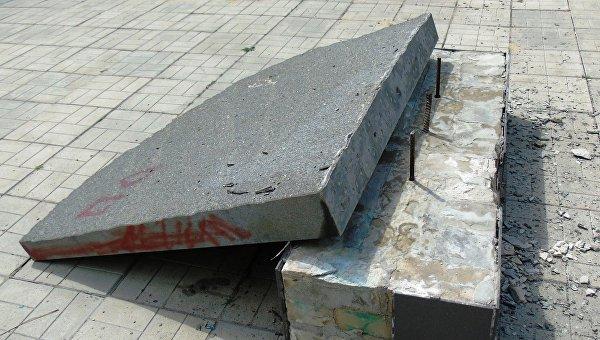 Неизвестные разрушили памятник героям АТО в Попасной