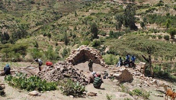 Руины мечети XII века в Эфиопии