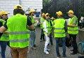 Ситуация перед началом марша ЛГБТ в Киеве