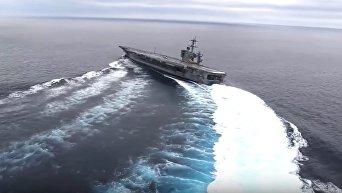 Тестовые испытания авианосца ВМС США Abraham Lincoln