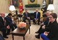 Петр Порошенко и Дональд Трамп, 20 июня 2017