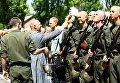 Принятие присяги военнослужащими Нацгвардии в Запорожье
