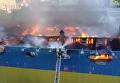 Тушение пожара на Крещатике, 20 июня 2017. Видео