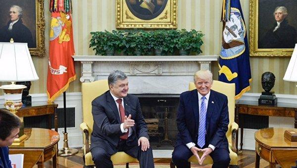 Встреча Петра Порошенко и Дональда Трампа