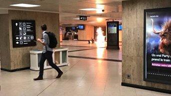 Военнослужащий застрелил мужчину в центре Брюсселя с поясом смертника