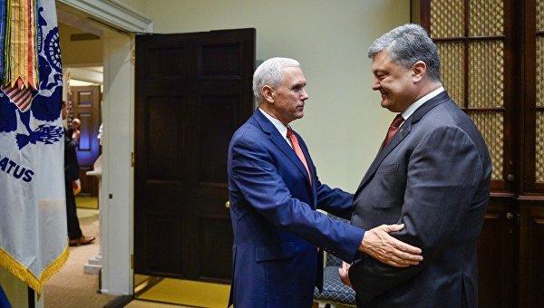 Встреча вице-президента США Майка Пенса с президентом Петром Порошенко