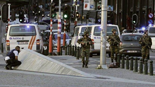 Вцентре Брюсселя нейтрализован мужчина впоясе смертника