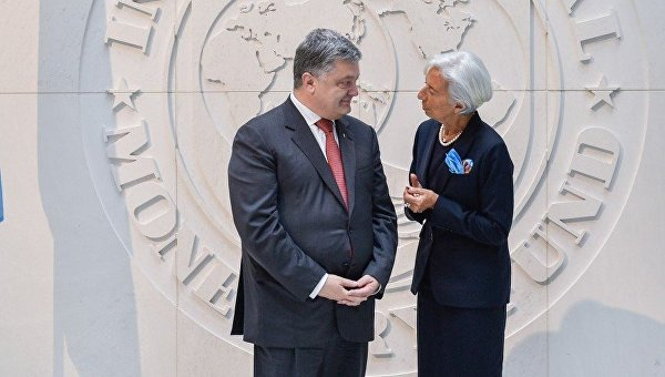 Встреча Петра Порошенко и Кристин Лагард