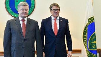 Встреча президента Петра Порошенко и министра энергетики США Рика Перри