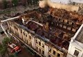 Последствия пожара на Крещатике сняли з квадрокоптера. Видео